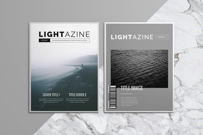 Lightazine Indesign Template #booklet #luuqas Download : http://1 ...