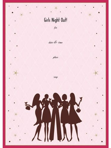 Girls Night Out Invitation Brands Share Your Favorite Brands And