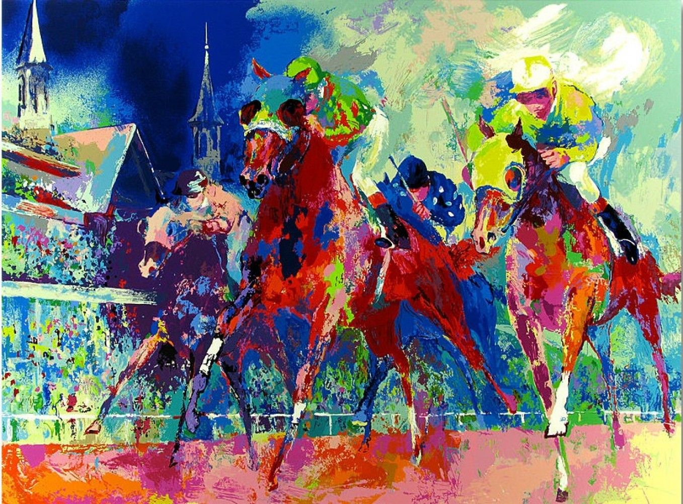 Felix murillo lleno de colores painting acrylic artwork fish art - Leroy Neiman Elephant Oil Painting Oil By Antsartworkoffice