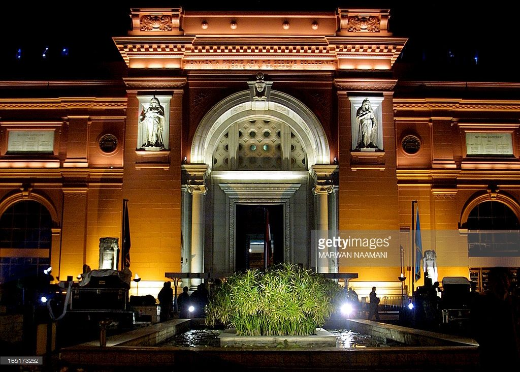 A general view of the recently-renovated Cairo Museum, taken 11 December 2002…