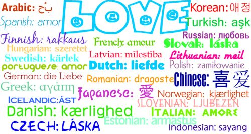 Love In Different Languages Love In  Different Languages The Word Love In  Different