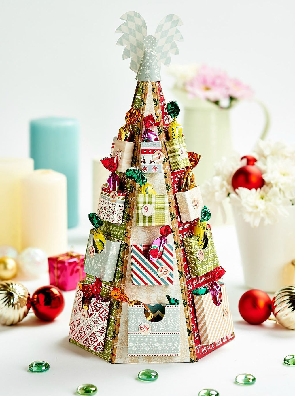 Issue 87 Templates Available To Download Papercrafter Christmas Tree Advent Calendar Christmas Tree Crafts Diy Christmas Tree