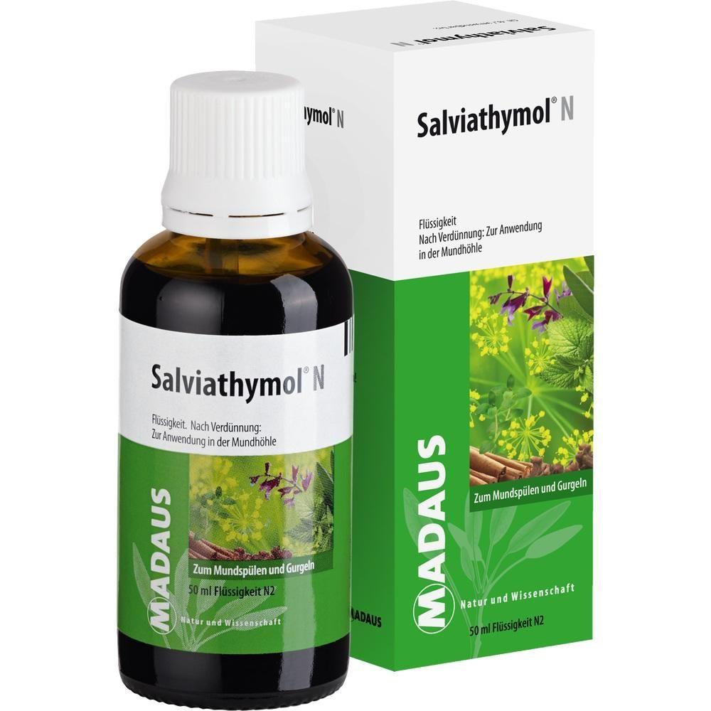 SALVIATHYMOL N Tropfen:   Packungsinhalt: 50 ml Tropfen PZN: 06181801 Hersteller: MEDA Pharma GmbH & Co.KG Preis: 6,26 EUR inkl. 19 %…
