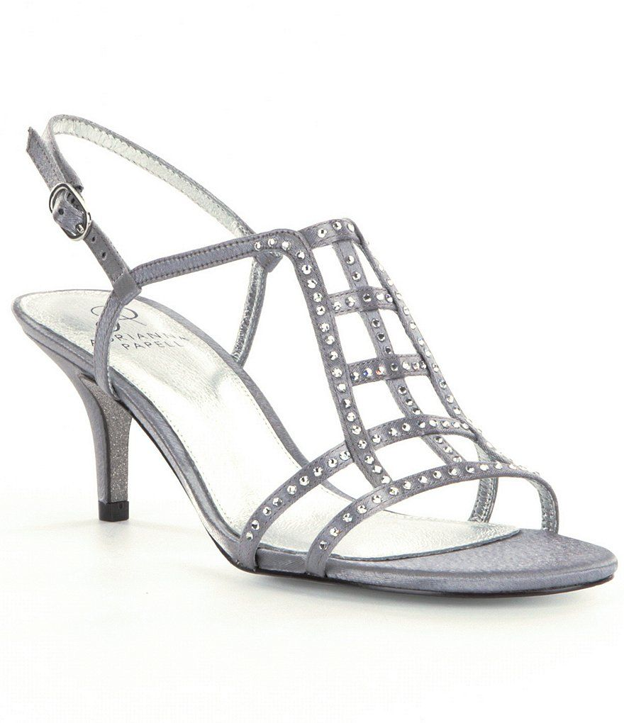 Amari Jeweled Satin Dress Sandals z1fLak