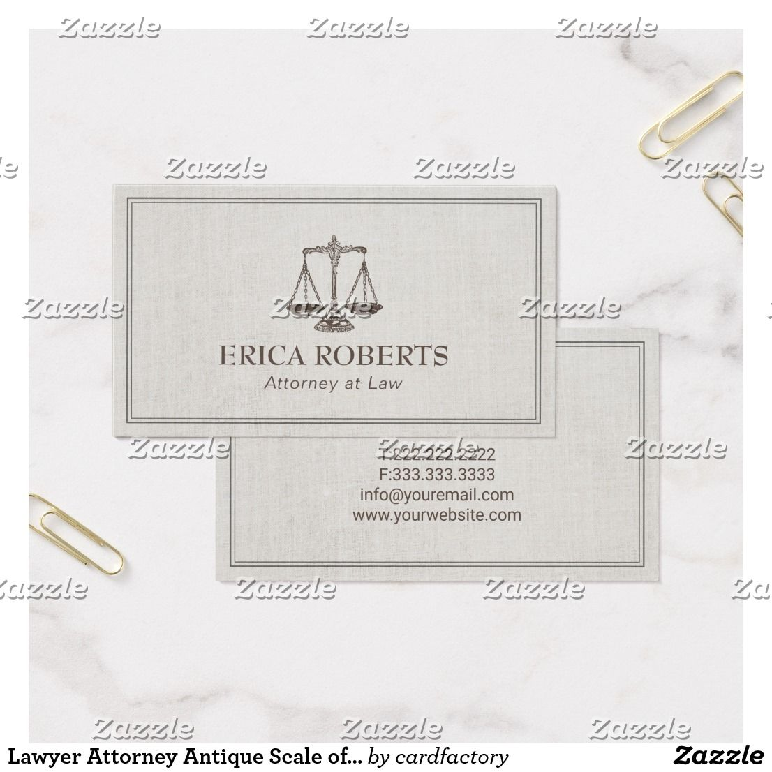 Lawyer Attorney Antique Scale of Justice Vintage Business Card ...