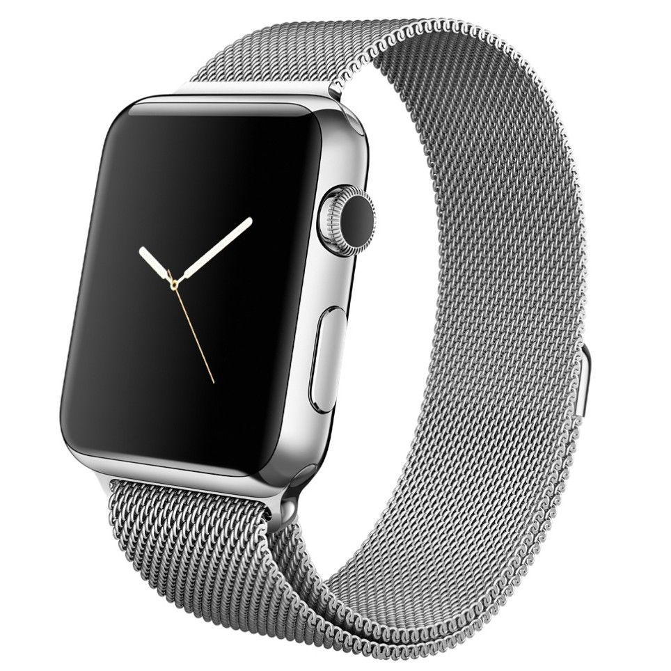 Apple watch band, Decouart Black Milanese loop Stainless