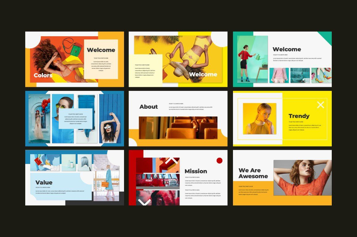 Colors Free Powerpoint Template Free Design Resources Keynote Template Powerpoint Templates Keynote Design