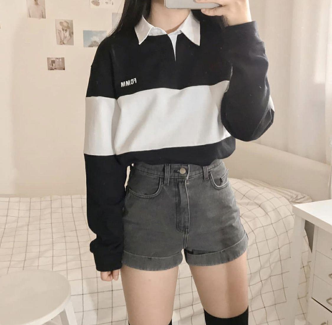 Korean fashionsimple stripes oliwiasierotnik korean pinterest
