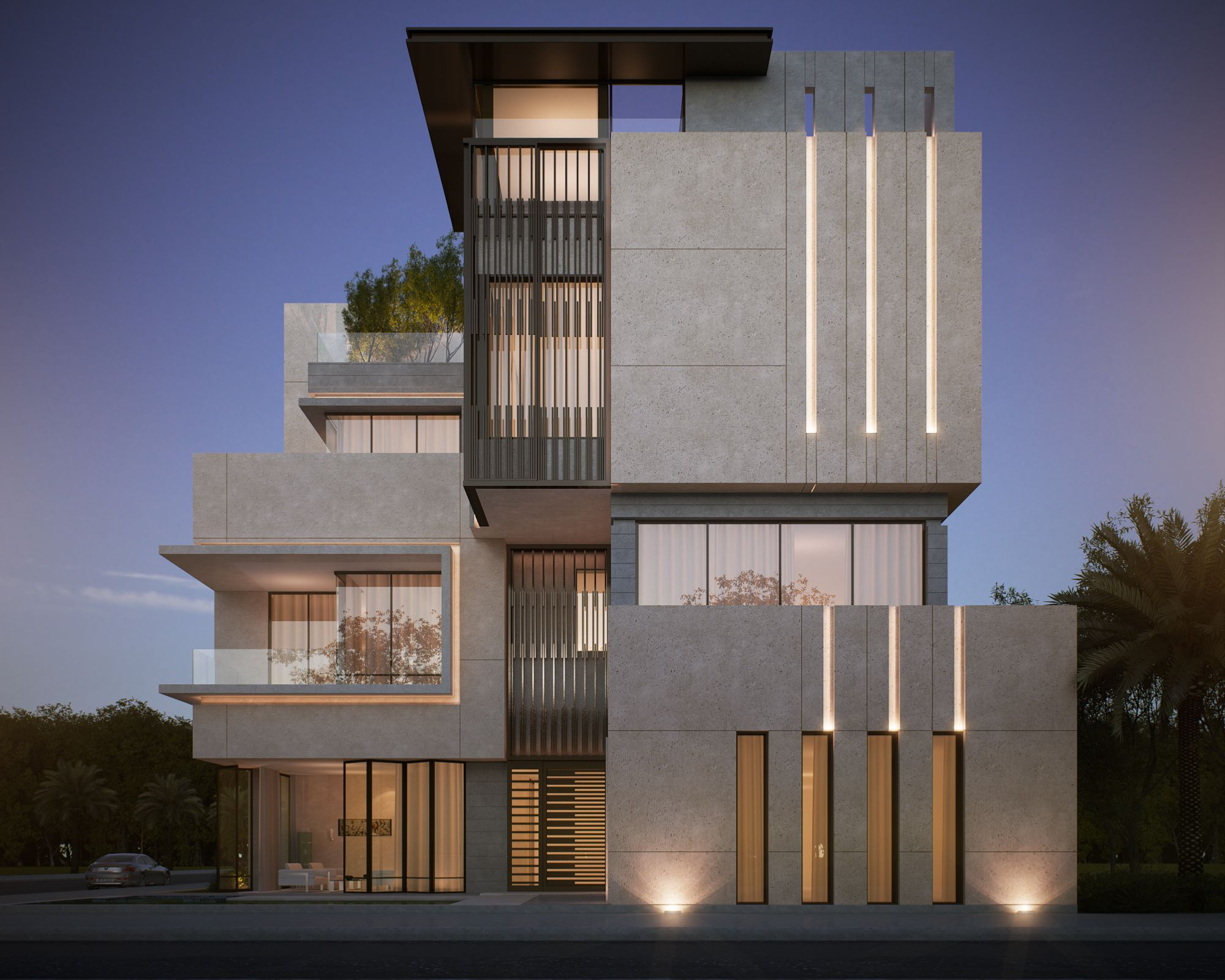 private villa 500 m kuwait sarah sadeq architects sarah sadeq architectes pinterest casas. Black Bedroom Furniture Sets. Home Design Ideas