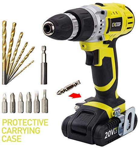 Goplus 18v Cordless Drill Driver Set With 78 Piece 16 Position Keyless Torque Clutch Variable Speed Construction Work Screwdriver With Professional Case Max 18v Cordless Drill Cordless Drill Drill