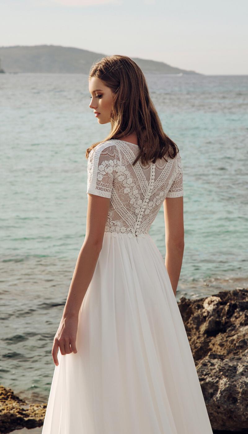 Short Sleeve Boho Style Wedding Dress Short Sleeve Wedding Dress Boho Style Wedding Dress Lace Wedding Dress With Sleeves [ 1400 x 800 Pixel ]
