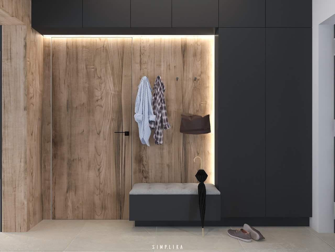 Bankje in hal en garderobe kast uit het zicht ❤ hal trap
