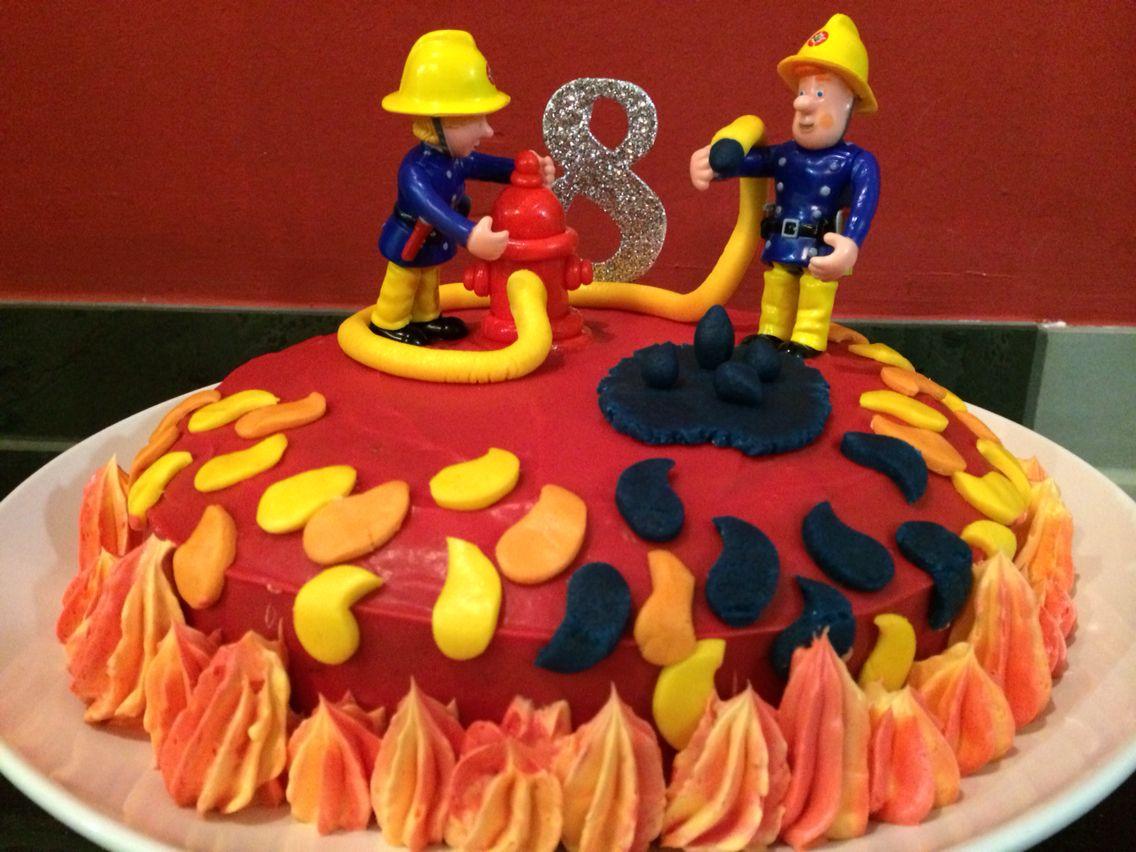 Feuerwehrmann Sam Kuchen  Homemade  Feuerwehr kuchen