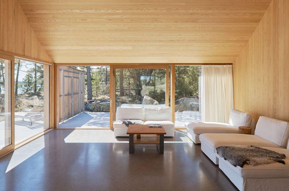 Interiorinspiration innenarchitektur livingroom interior design images wooden house trellis also swedish summer combines classic materials with modern looks rh pinterest