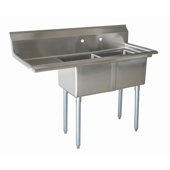 The 2cs 162012 1 Sink From Atlantic Metalworks Has 16 X 20 X 12 Bowls 2 Compartments And 1 Drainboard 3 Sink Stainless Steel Sinks Durable Table