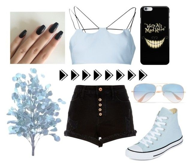 """Mad"" by vickysanti ❤ liked on Polyvore featuring David Koma, Converse, River Island and Ray-Ban"