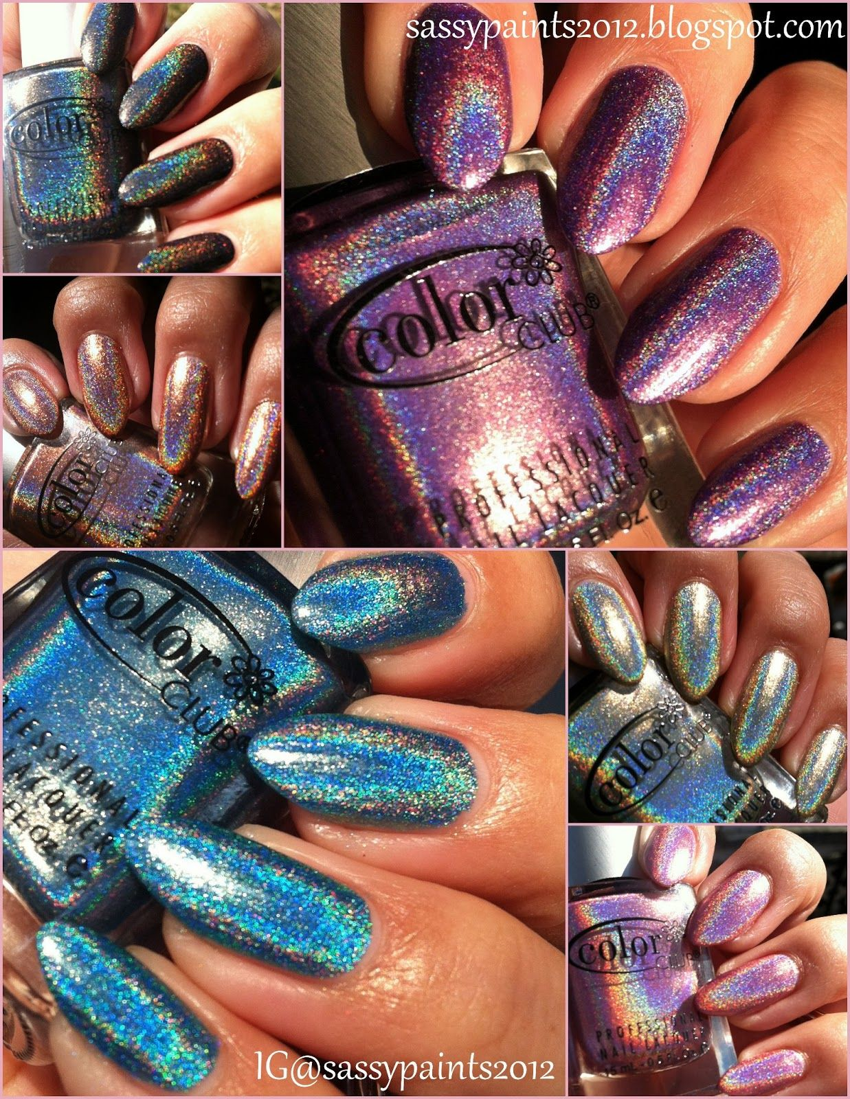 Sassy Paints: Color Club Holo Hues *Spring 2013*
