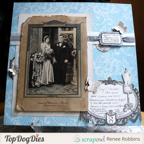Vintage Scrapbook Page