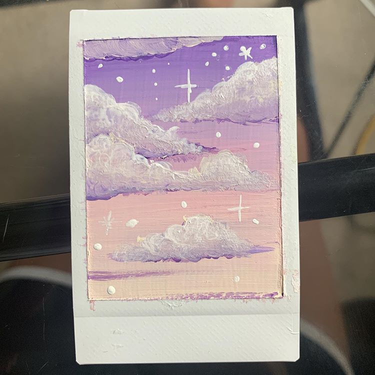 Christine's Art sur Instagram : Painting on bad polaroids is great, almost makes me wish I messed up more shots lol ((more art to come, I am currently working on a bigger… #watercolorart