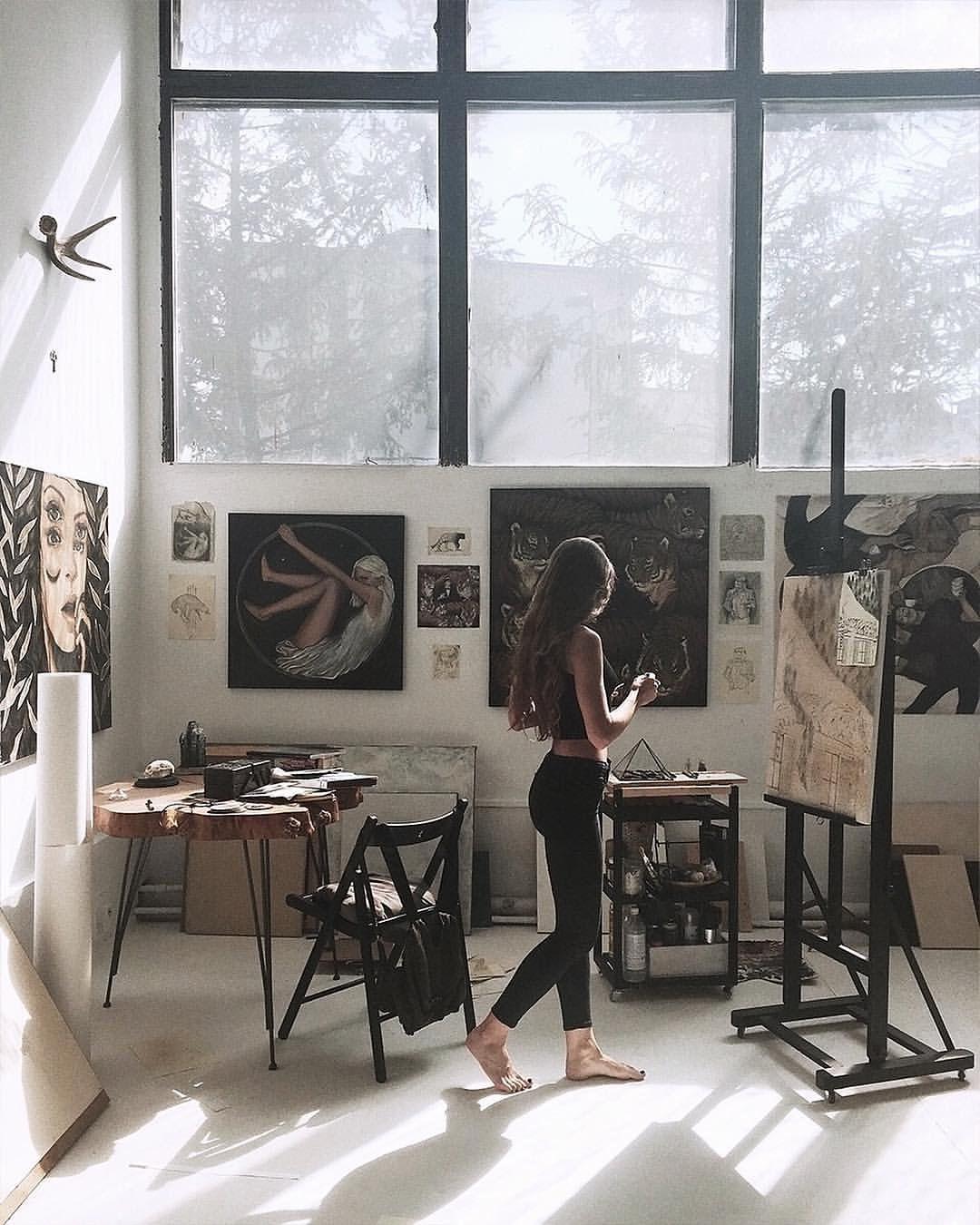 """natalie rukavishnikova on Instagram: """"∘✧ studio days ✧∘"""""""