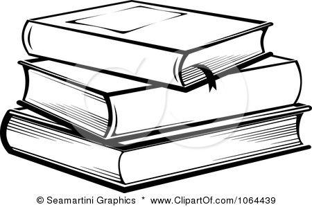 Clip Art Books Black And White Clipart Stack Of Books In Black