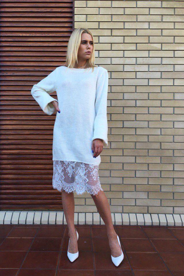 Платья из вязаного кружева