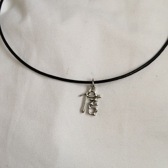 Brandy Melville Chinese Symbol Choker Necklaces Chinese Symbol
