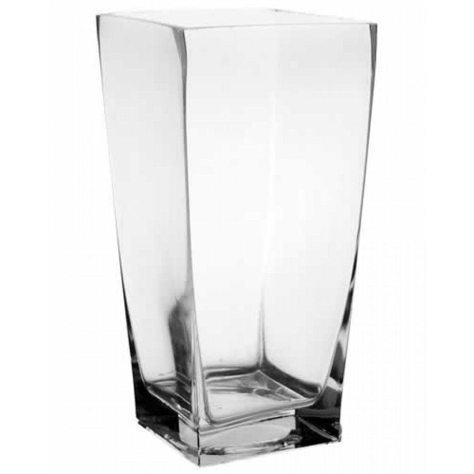 12 Clear Taper Square Vase (Case of 6 = $20.60/Vase) [10988 12 Taper ...