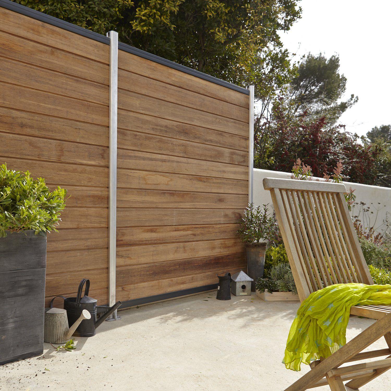 Lames Bambou A Emboiter Leroy Merlin Panneau Bois Cloture Jardin Bois Cloison Decorative