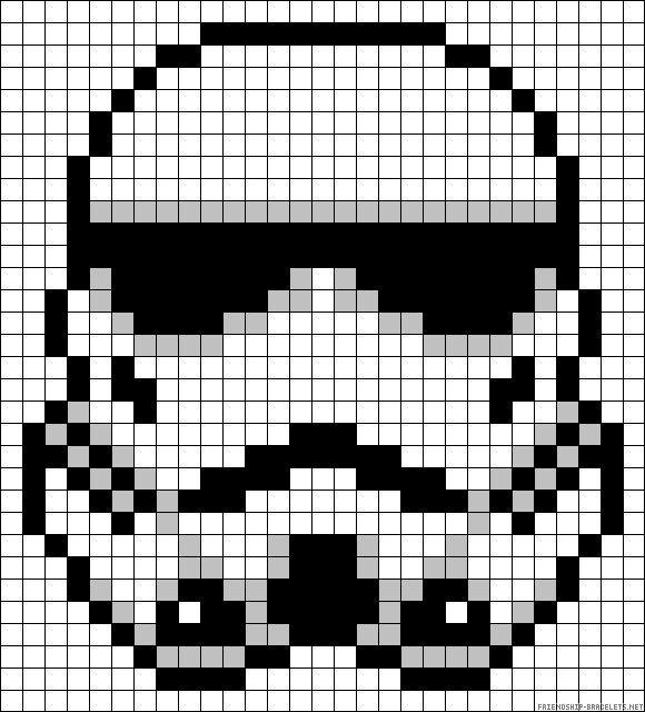 Stormtrooper Star Wars Perler Bead Pattern Star Wars Crochet Star Wars Quilt Pixel Crochet