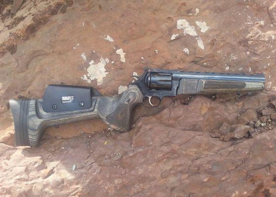 Custom stock on a six-shooter //