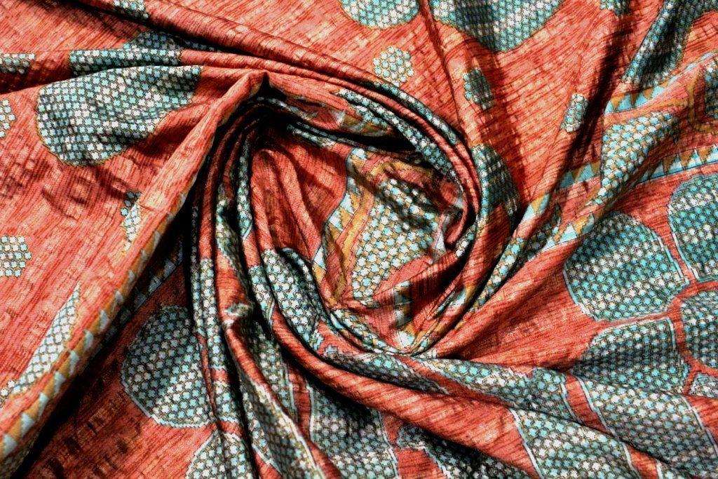 Indian Vintage Indian Traditional Sari Clothing Art Deco Recycled Sari Art Silk Printed Fabric Women Wrap Floral Sari 5 Yrd Fabric R#345 #saridress