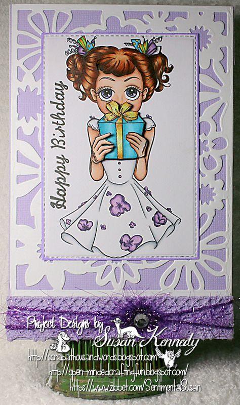A Thousand Words Purple Aurora Birthday* Susan\u0027s Cards and ATCs