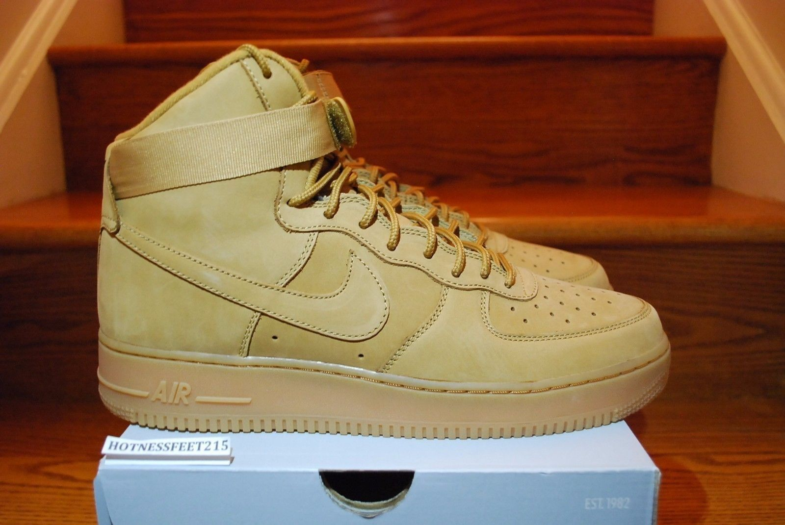Details about 2018 Nike Air Force 1 High '07 LV8 Flax Wheat