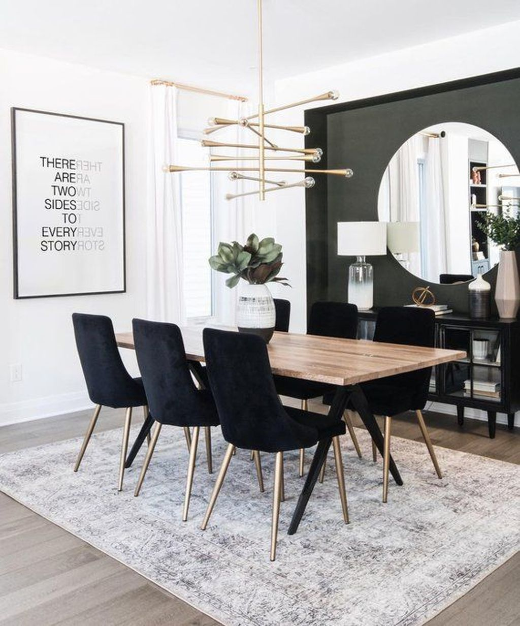 35 Amazing Black And White Dining Room Design Ideas With Elegant Look Modern Dining Room Dining Room Colors Dining Room Inspiration