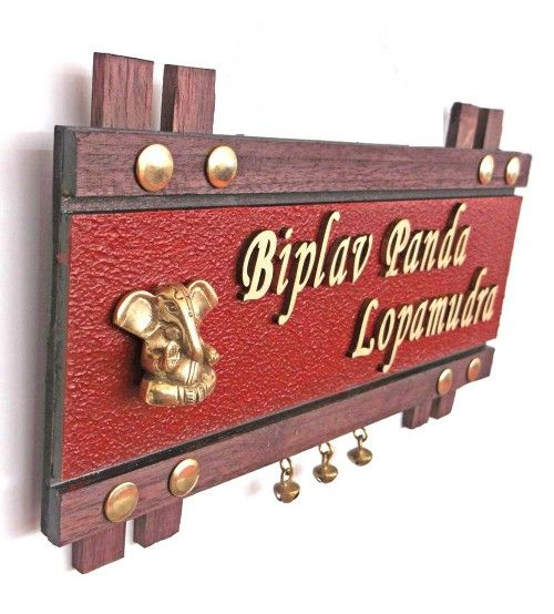 Beautiful Handcrafted Customized Name Plate With Brass