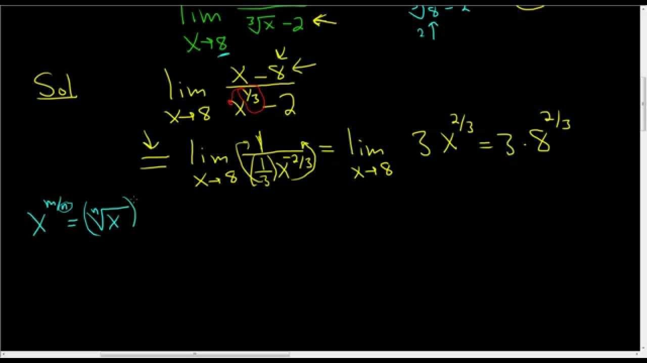 Finding A Limit Using L Hopital S Rule X 8 X 1 3 2 As X Approa Maths Exam Calculus Rules