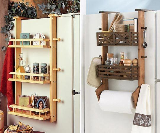 Small Space Solution Refrigerator Side Shelf Kitchen Storage Space Apartment Storage Solutions Shelves