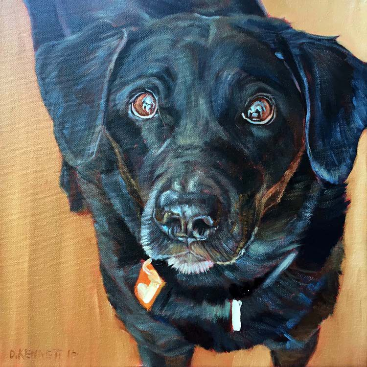 Custom Black Labrador Retriever Painting by BFF Pet ...