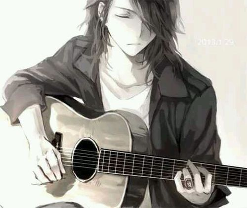 Anime Guy With A Guitar