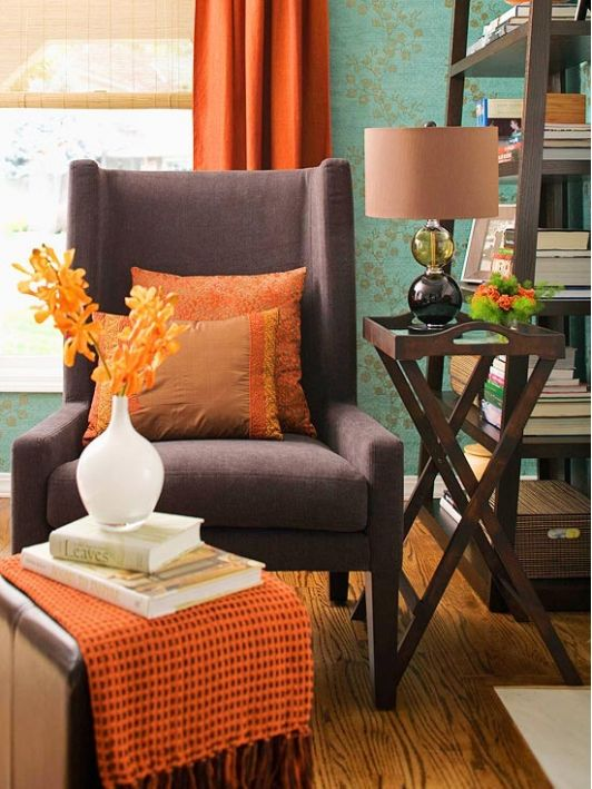 Living Room Orange Or Rust Accents - Best site wiring harness