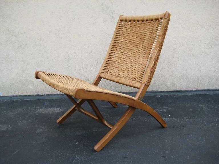 Woven Folding Chair In The Style Of Hans Wegner 2 Folding Chair