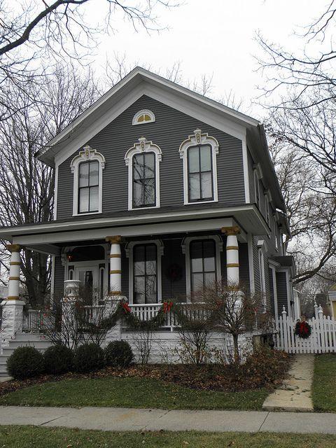 Dark Gray Victorian House Exterior Victorian Homes