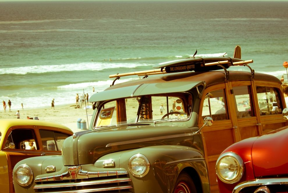 Vintage San Go Solana Beach Surf Photo By Lau Imagery