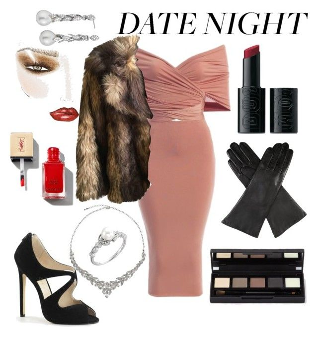 """Sexy night out"" by barbara-lancianese on Polyvore featuring ASOS, Dents, Charlotte Tilbury, John Lewis and Blue Nile"
