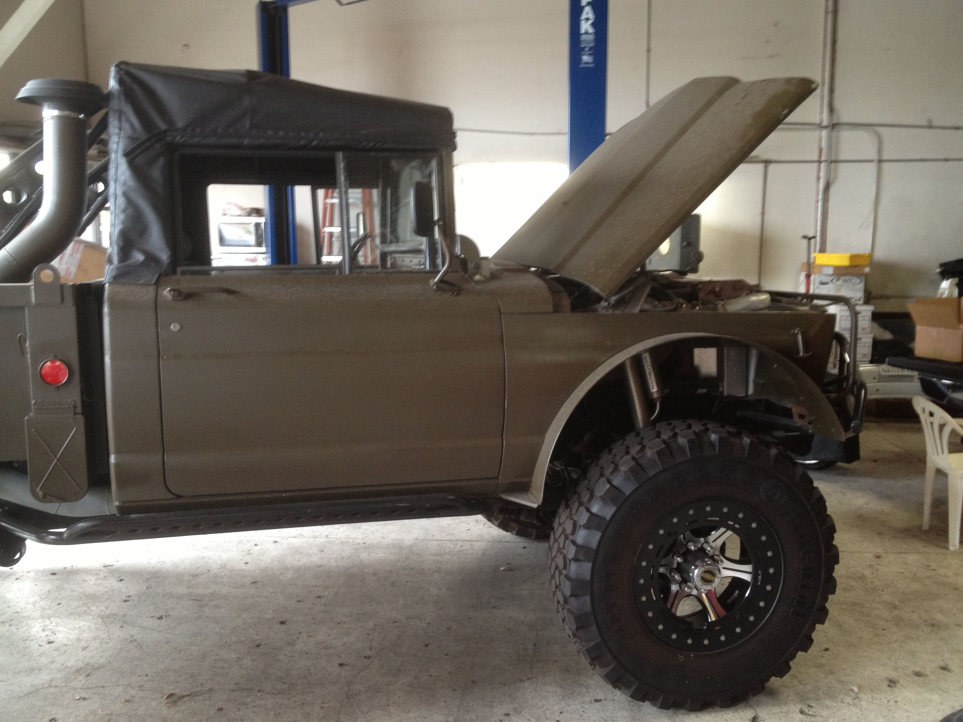 A really cool new project on a 1967 kaiser jeep m715 military surplus this