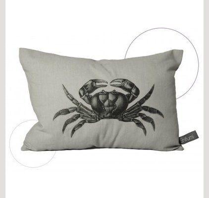 Coussin crabe, pour une déco de maison de bord de mer, création et fabrication en France #coussin #coussindecomood #coussindeco #decomer #decomood