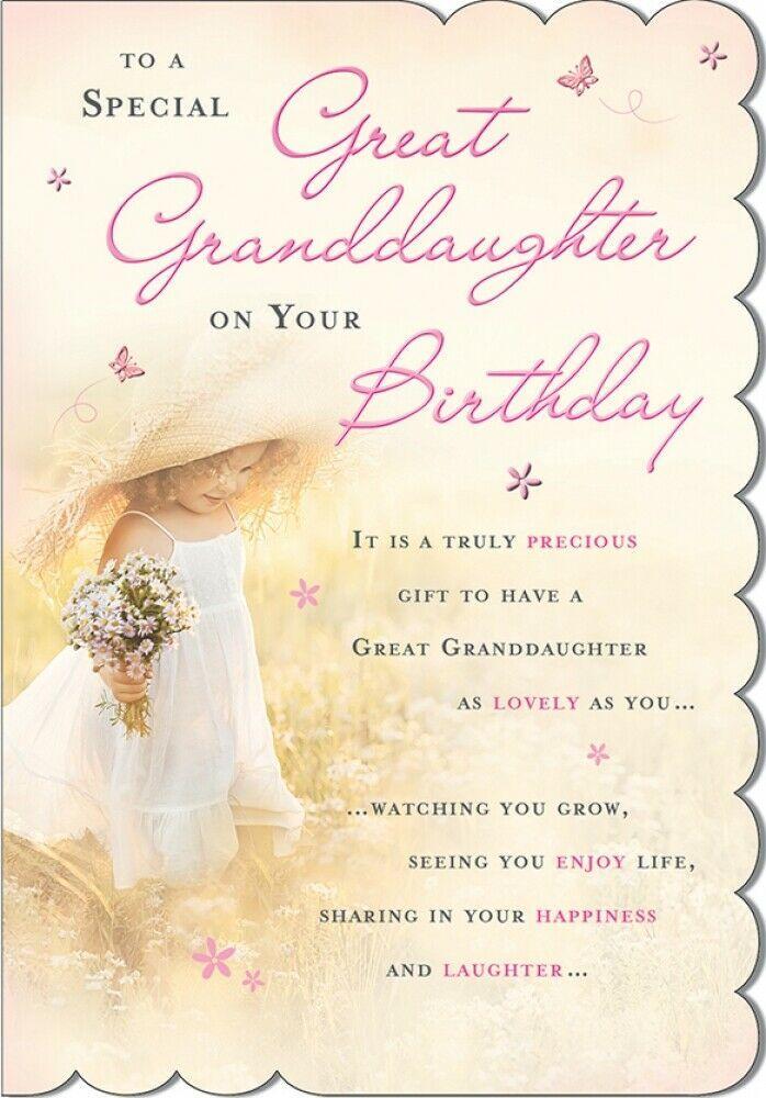 Great Granddaughter Birthday Card Granddaughter Birthday Birthday Greetings Birthday Greeting Cards