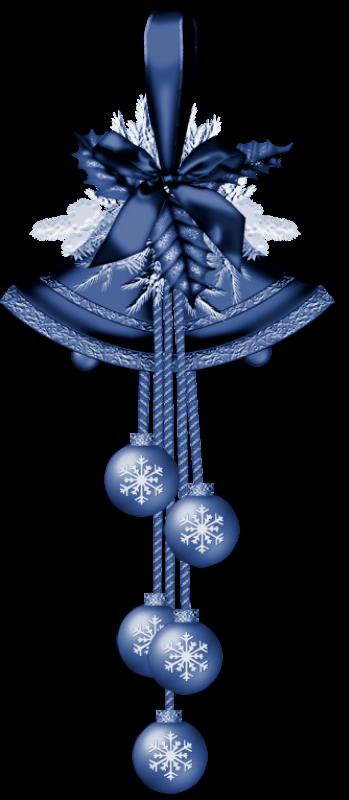 Blue christmas bells clip art