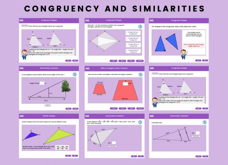 Skoolmaths Products Congruency And Similarities Gcse 1 9 Gcse Math Interactive Lessons Gcse Congruence worksheets 8th grade